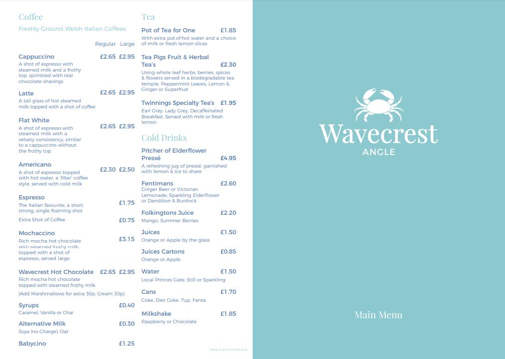 Wavecrest menu 1